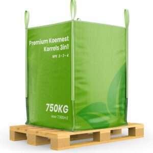 Premium Koemest korrels 3in1 (Bigbag 750Kg voor 7.500m2)