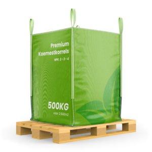 Premium Koemestkorrels bigbag (500Kg voor 2500m2)