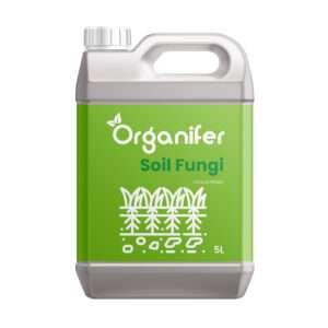 8719958994478 Soil Fungi Bodemschimmel Concentraat - 5L voor 5.000m2 - Tegen Verticillium Verwelkingsziekte - Pythium Kiemplantenziekte - Fusarium Voet en wortelrot - Voorkomt en herstelt Schade - Organifer
