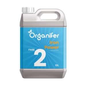 Vloeibare Meststof voor Bloeifase - 10L concentraat - (Voor 5000 liter plantenvoeding) Iron Power fase 2 - Voor hogere Kwaliteit, meer Smaak, diepere Kleuren, sterkere Vruchten in ieder gewas - Organifer