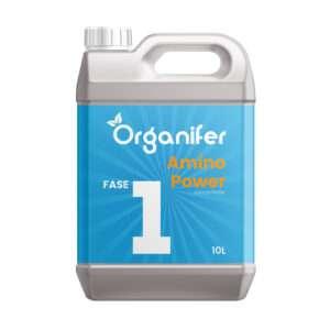 8719958995642 Vloeibare Meststof voor Groeifase - 10L concentraat ( Voor 5000 liter complete plantenvoeding) - Amino Power fase 1 - o.a. voor Hydrocultuur - Binnenplanten - Tuin - Gazon - Kweken - Organifer