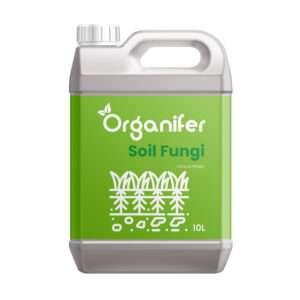8719958995680 Soil Fungi Bodemschimmel Concentraat - 10L voor 10.000m2 - Tegen Verticillium Verwelkingsziekte - Pythium Kiemplantenziekte - Fusarium Voet en wortelrot - Voorkomt en herstelt Schade - Organifer