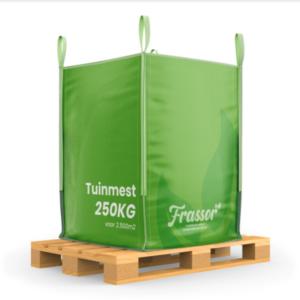 Tuinmest (Bigbag 250kg – voor 2500m2) Verrijkte frass