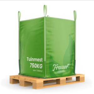 Tuinmest (Bigbag 750kg – voor 7500m2) Verrijkte frass