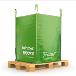 Tuinmest (Bigbag 1000kg – voor 10.000m2) Verrijkte frass